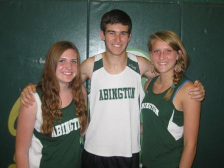 Contributor Ali Phair (left) and her Cross Country teammates Nick Sideropoulos and Molly Atkinson