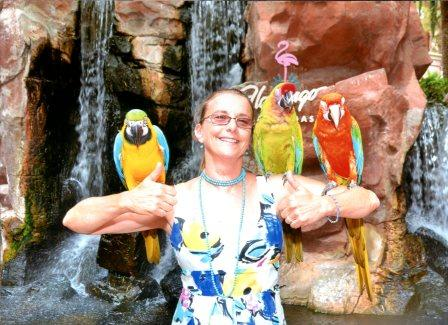 Ms. Salvetti entertains some new friends on a recent vacation