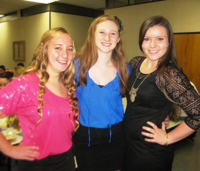 Nichole Kulikowski, Melissa Imrie and Leighann Healy are all in Anything Goes.