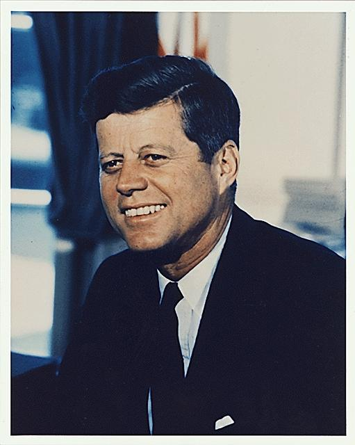 Portrait of 35th President John F. Kennedy at the White House in Washington, D.C., July 11, 1963. (Office of the Naval Aide to the President/National Archives/MCT)