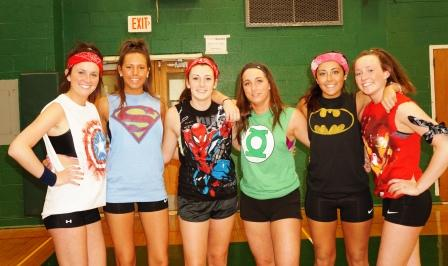 Haley Brennan, Nicole Harris, Mackenzie Odenweller, Hannah Haddad, Jordan Jaime and Marina Brennan
