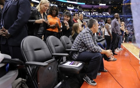 The seats of Los Angeles Clippers owner Donald Sterling sit empty before the start of play against the Golden State Warriors in Game 5 of a Western Conference quarterfinal at Staples Center in Los Angeles on Tuesday, April 29, 2014. (Wally Skalij/Los Angeles Times/MCT)