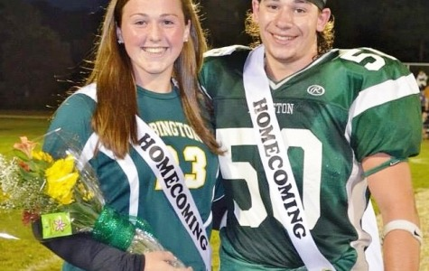 Former SAAC members Molly Ferguson (Secretary) and Sam Malafronte (President) at the 2014 Abington High School Homecoming football game. Both were members of the 2014 Homecoming Court. Ferguson is currently a senior at Utica College and Malafronte is at Worcester Polytechnic Institute (WPI).