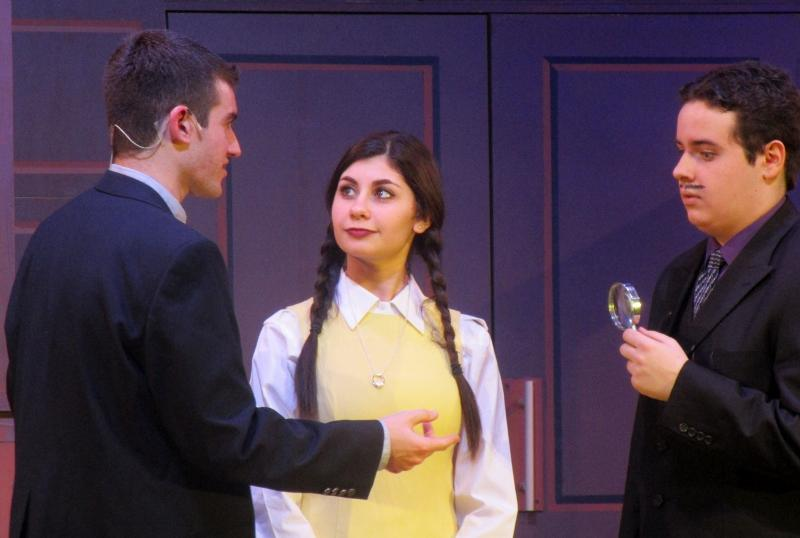 Nick Sideropoulos (Lucas), Alessandra Vento (Wednesday) and Riley Morrison (Gomez)