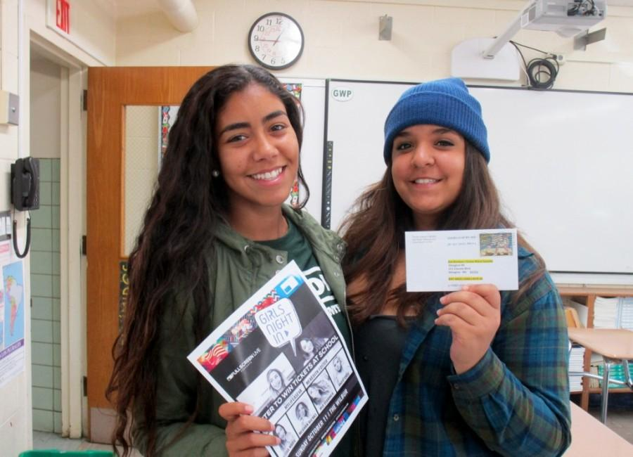 Raffle Winner Brianna Medeiros (l) and friend Sarah Tornato (r)