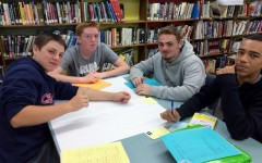 Freshmen AHS students during their recent library orientation.
