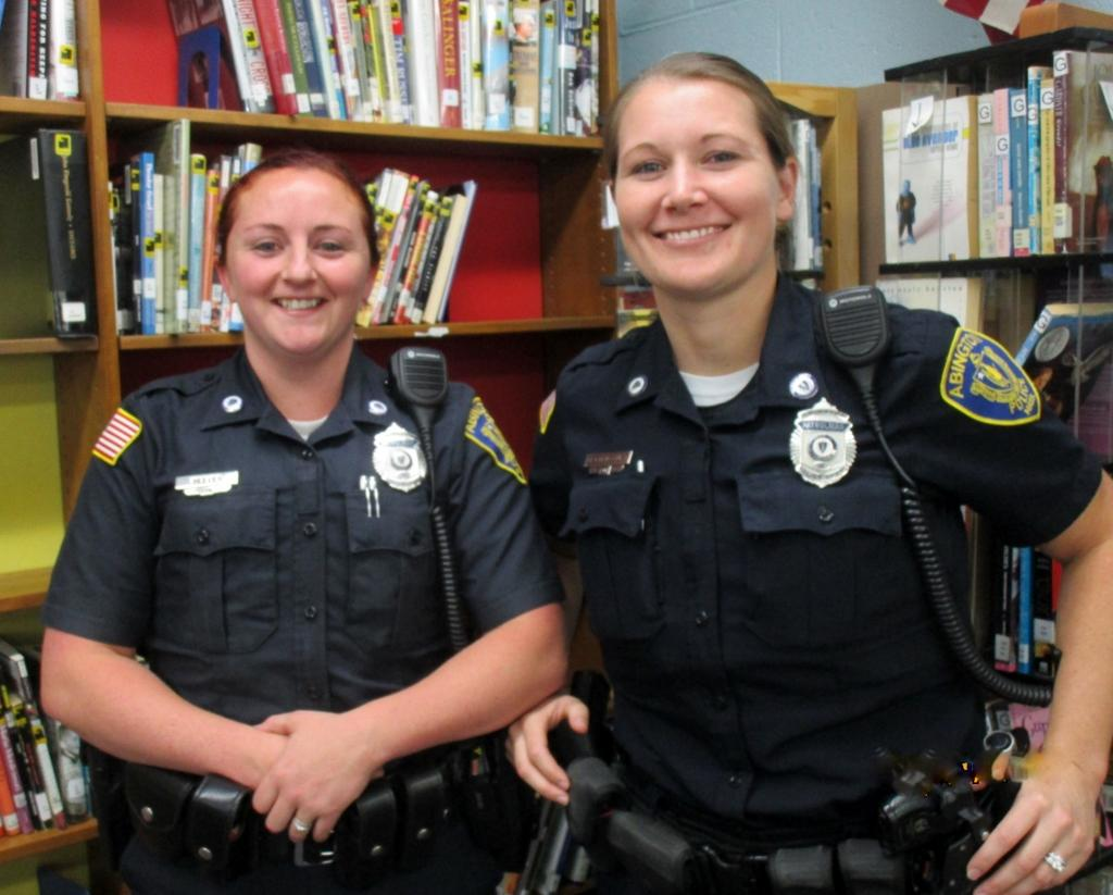 School Resource Officers Shannon Reeves and Michelle Bettencourt