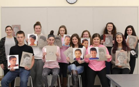 Ms. Poirier's art class and their memory projects