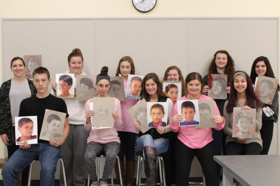 Ms.+Poirier%27s+art+class+and+their+memory+projects