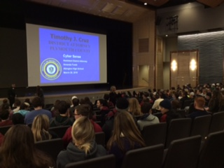 Abington juniors and seniors attend a presentation on Cyber Sense