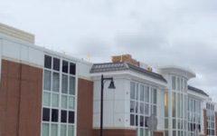 Solar panel construction begins