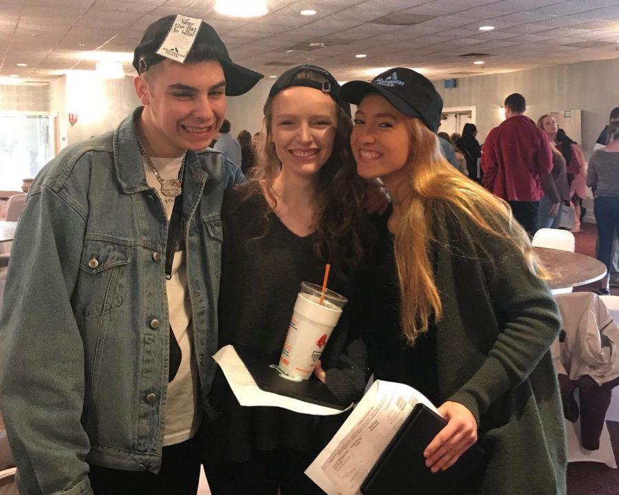 Marc Vento, Ally Snow, and Caitlin Murphy