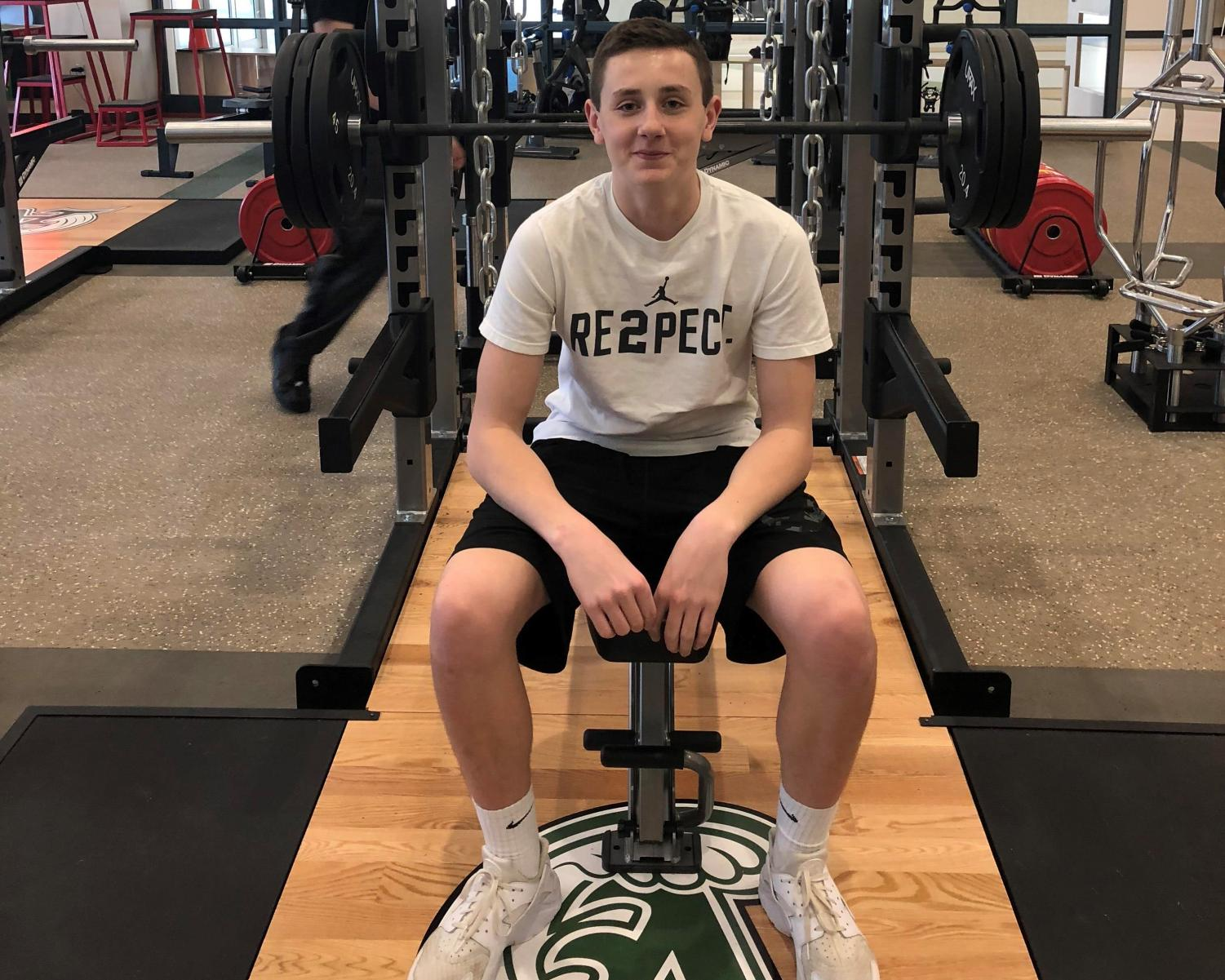 Matt Maguire at the Abington High School Weight Room