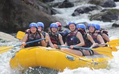 Costa Rica travelers white water rafting