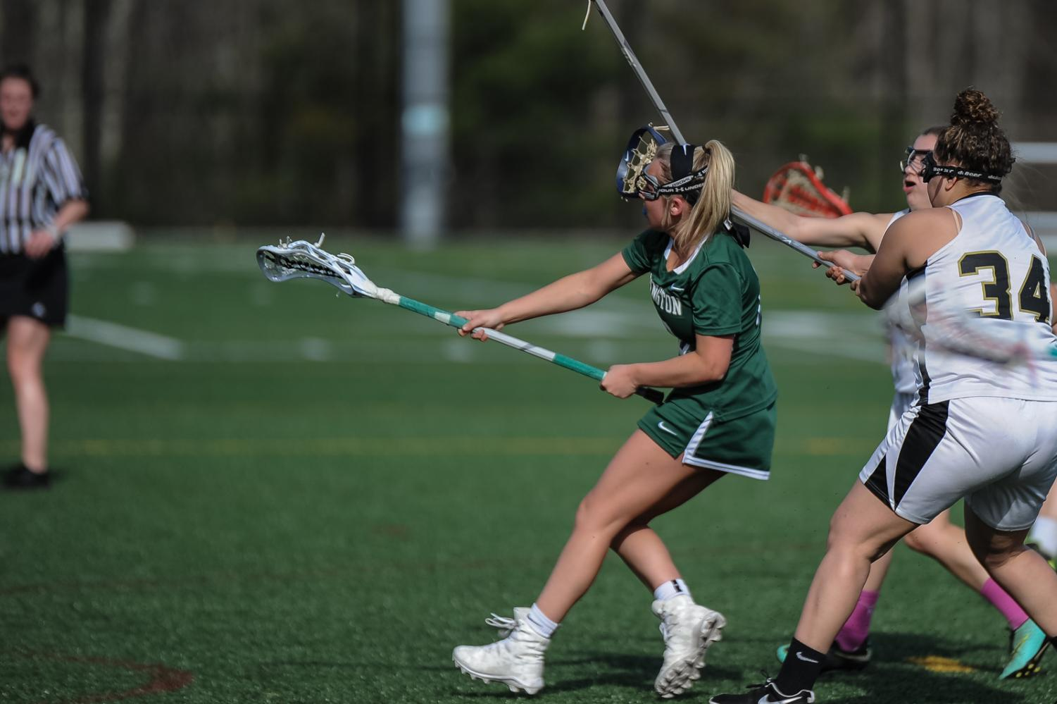Courtney McCabe '18 scores her 200th career goal.