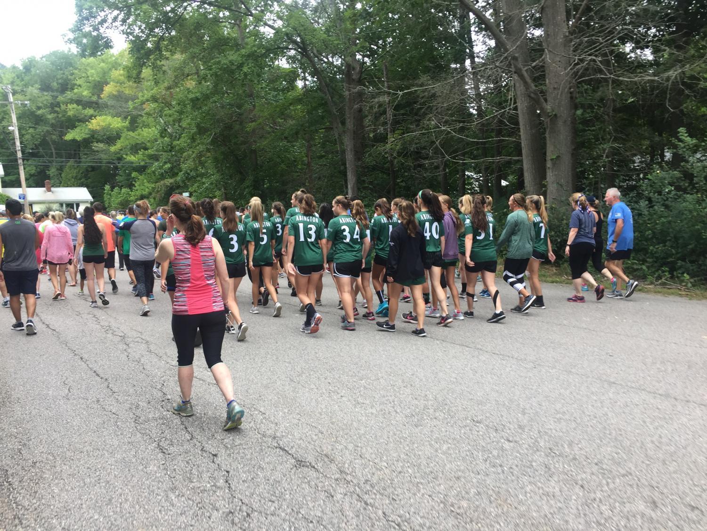 Girls+Soccer+Team+heading+to+the+Starting+Line
