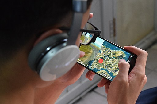 A Player Playing PUBG Mobile