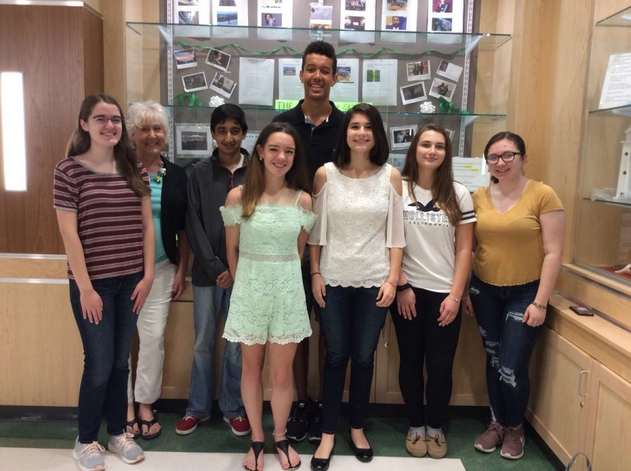 Allie MacLeod, Ms. Pflaumer, Rohith Ghosh, Maria Wood, Cam Curney, Lidia Vidal, Allison, and Alison