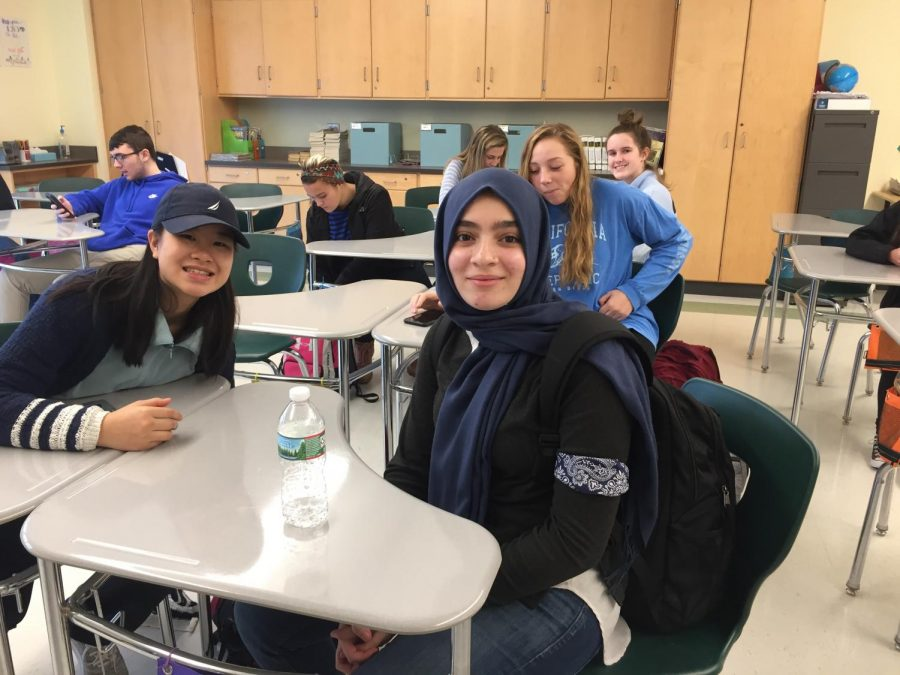 Juniors Vianne Shao and Miryam Naidjate dress up for APD Day