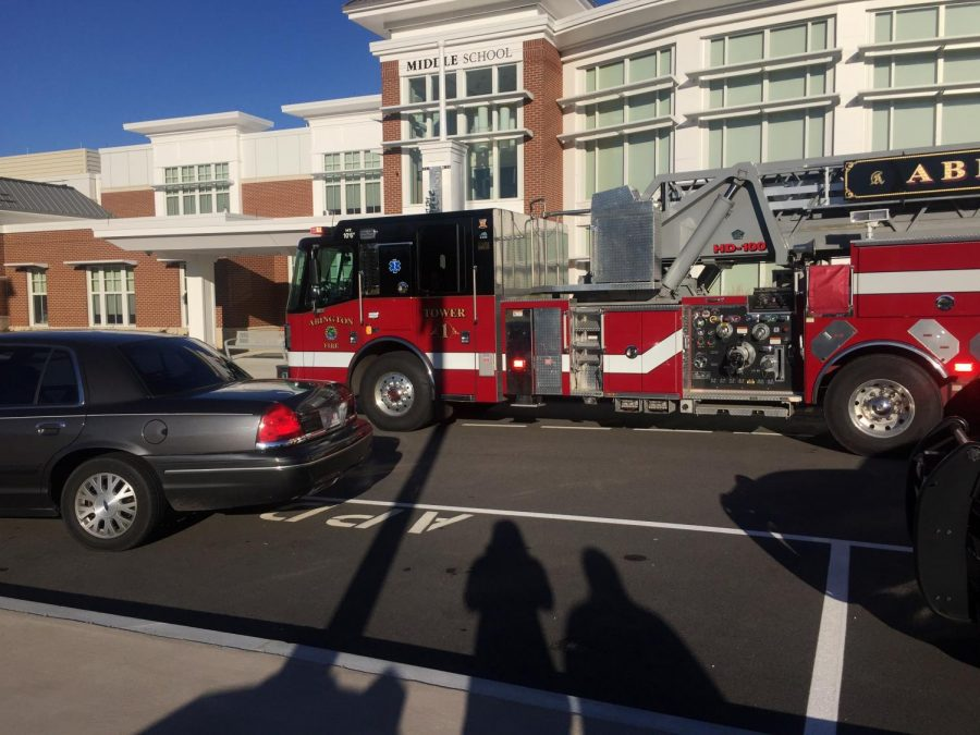 As the situation was being checked out lasted a few minutes, and then, students stood calmly outside, waiting for the all clear signal that would allow them back inside the building.