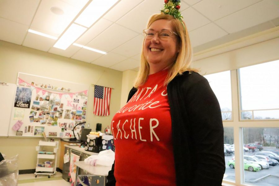 English teacher Mrs. McHugh excited for the holidays.