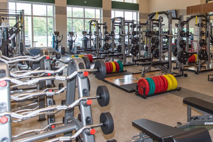 Many of Abington's student-athletes have frequented the state of the art weight room, part of the town's $96.5 million school project completed in 2017.