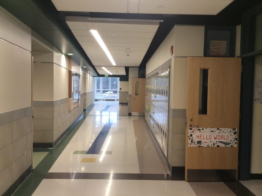 The+hallways+were+quiet+on+Tuesday%2C+Feb.+5%2C+as+40%25+of+the+AHS+student+population+was+in+Boston+at+the+Patriots+Parade.