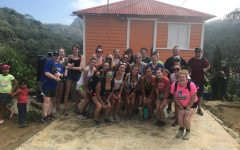 Abington High School travelers standing in front of Conuco Farm where they learned about Dominican farming systems and coffee. Juniors: Grace O'Donnell, Kathryn Sage, Olivia Litzenburg, Ailey Riddick, Manda Riddick, Corin Mahan, Kayli Tobin, Trinity O'Connor, Emmalee Ezzell, Julie Warsheski, Hannah Liebke, Mikayla Littman Seniors: Emily Duchaney, Sophie Reardon, Hanna Thurburg, Maddie Contrino, Amanda Nguyen, Shannon Snyder, Megan Reid, Jordyn Needle, Mike Broomstein  Teachers: Mrs. Peck, Mr. Campbell, and Ms. Reardon