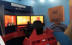 The Distractology Driving Simulator Trailor was parked outside the middle school at AHS beginning on Tuesday, March 6. About 20 students per day went through the program.