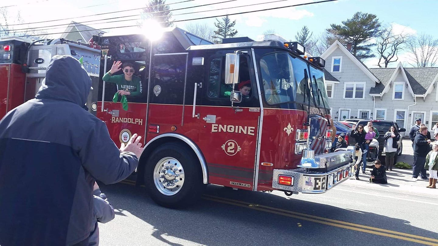 Sophomore Jack Clifford participated in the Abington St. Paddy's Day parade on March 17, 2019 in Abington MA.