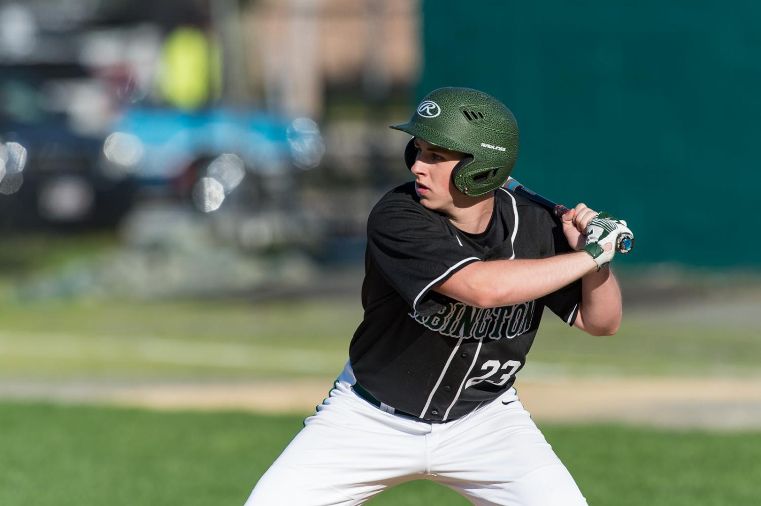 Abington High School senior Ryan Doherty, wearing 23, in a game against Cohasset during the 2018 season.