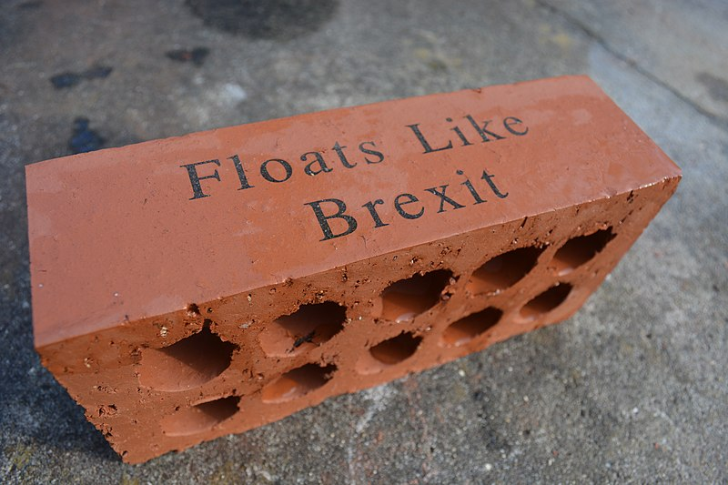 The Brexit Brick Is a Good Metaphor for the Current State of Brexit as of March 29, 2019. This photo was taken on 18 January 2019.