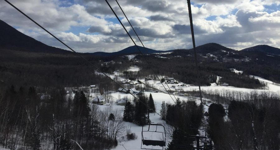 View from the ski lift at Black Mountain in Jackson, New Hampshire  taken in the winter of 2017