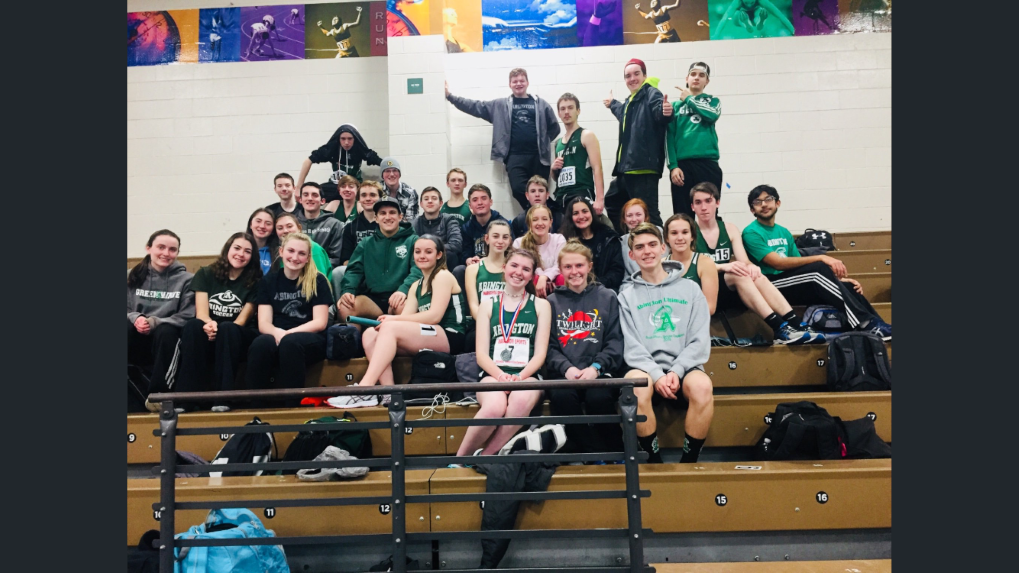 The Winter Track Team after the January 31, 2019 South Shore League Championship held at the Reggie Lewis Center in Roxbury.
