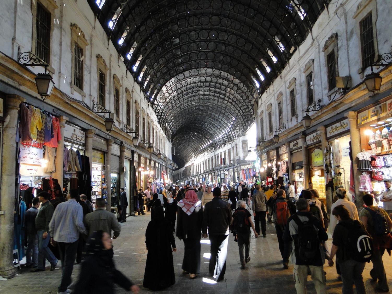 Al-Hamidiyah Souq in Damascus on 31 March, 2010.