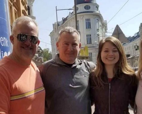Abington High School chaperones Mr. Holzman, Mr. Donahue, and Ms. Gerhart (left to right) on a trip to Greece. This year, Mrs. Peck will be joining as the fourth chaperone (not pictured).