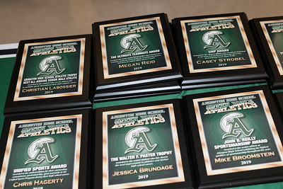 Many awards were given during the Abington Athletic Recognition Night on Wednesday, May 29, 2019.