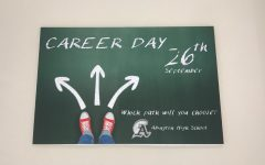 One of the Career Day Posters that hangs in the hallways of Abington High School this month to advertise the Thursday, September 26, 2019  event.