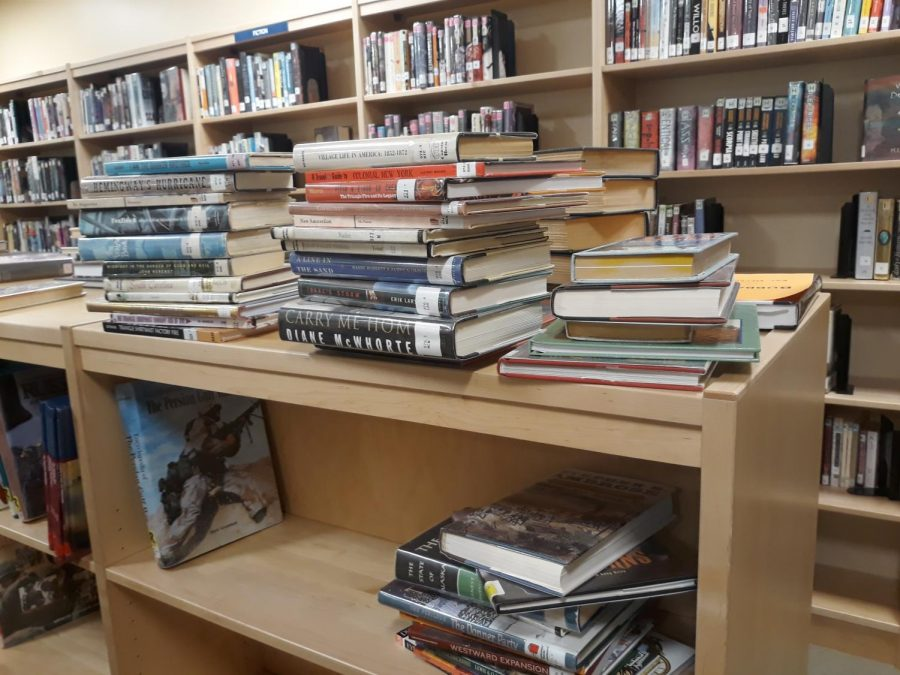 The Abington Middle-High School Library, seen here on October 8, 2019, has a variety of books for students to check out during the school year from 7:10 a.m to 3:00 p.m.