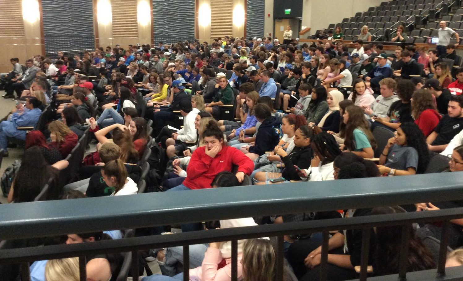 The Abington High School auditorium is full of sophomore to senior students on September 26, 2019. A Career Day was held for students who were interested in learning more about careers.