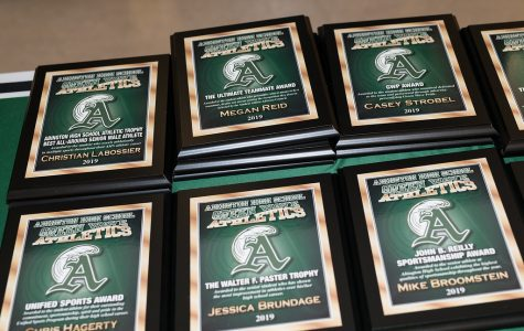 Senior Athletic Awards from the Senior Athletic Recognition night in 2019.