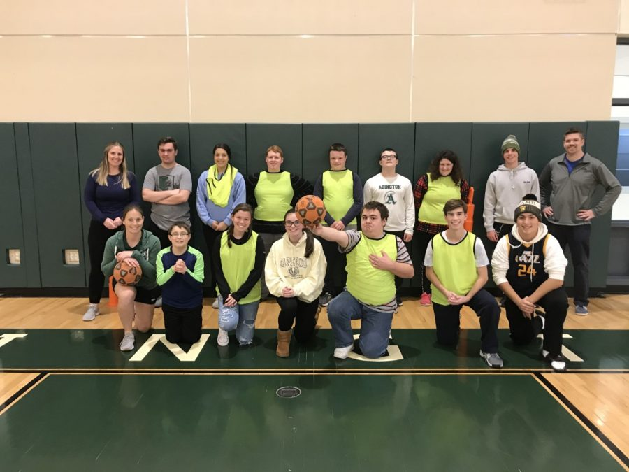 Abington High School's Unified Soccer Team, Nov.. 12, 2019 in the gym.