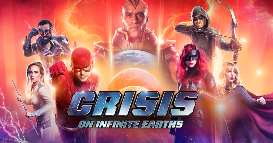 The+cast+of+characters+in+%22Crisis%2C%22a+crossover+that+draws+from+five+DC+shows.+It+airs+on+The+CW+network.