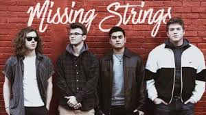 Abington High School students Kyle DeGrenier '20 (L), Dylan Gately '18, Dylan Magararu '19, and Mark Cellini '18 (R) formed the alternative band Missing Strings while students at Abington. Their CD Park Ave was their first single released.