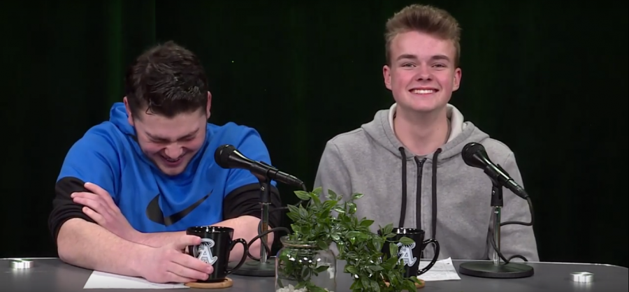 Matt Lyons (left) and Aaron Johnson (right), host the Weekly Wave.