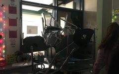 Students attempted to barricade a classroom on the second floor during an ALICE drill on Monday, December 9, 2019