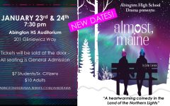 Abington High School Drama Club presents the romantic comedy
