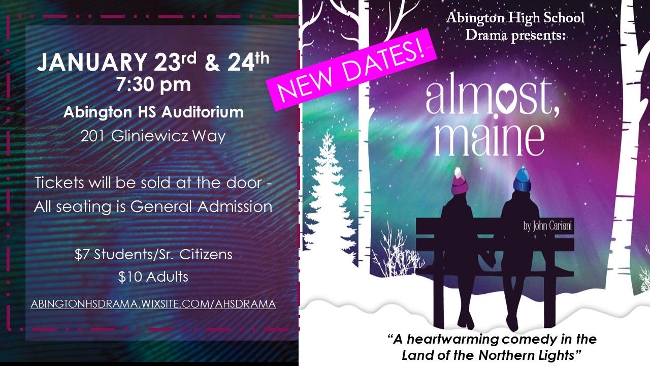 Abington High School Drama Club presents the romantic comedy