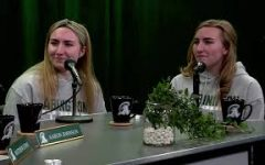 Gracie and Isabella O'Connell (Class of 2021) during their interview with Matt and Aaron about the