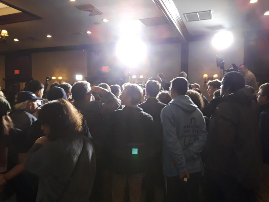 The crowd at Andrew Yang's rally in Manchester on Tuesday, February 11, 2020.